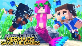 MERMAIDS SAVE BABY DONNY & DONUT!!! - Minecraft - Little Donny Adventures