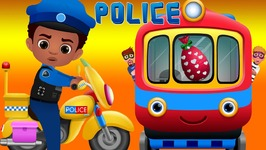 ChuChu TV Police Chase Thief in Police Car to Save Huge Surprise Egg Toys Gifts  The Train Escape