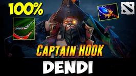 Dendi Pudge - Captain Hook-  Dota 2