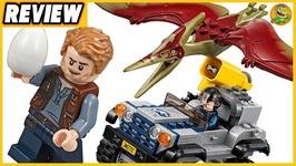 LEGO Jurassic World Fallen Kingdom Pteranodon Capture Review