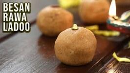 How To Make Besan Rava Ladoo  Budget Binge  Diwali Special Recipe  Rava Laddu  Ruchi