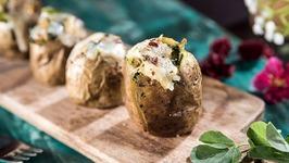 Baked Aloo Methi - Baked Methi Potato - How To Make Baked Potato - Stuffed Baked Potatos