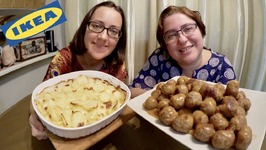 Ikea Potato Gratin And Swedish Meatballs / Gay Family Mukbang - Eating Show