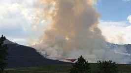 Air Tankers Drop Fire Retardant on Fire Near Breckenridge