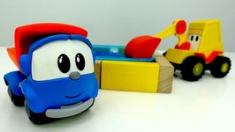 Leo the Truck and Excavator Max build an Orbeez Pool- Toy Trucks Videos and Children Videos- Toy Cars.