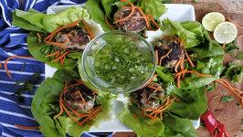 Asian Style Meatball Lettuce Wraps