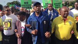 Protesters Gather Before Zuma No Confidence Vote