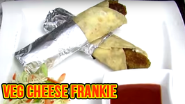 Veg Cheese Frankie  Quick Easy To Make Snack  Popular Street Food Recipe By Ruchi Bharani