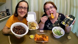 Korean Jajangmyeon And Cold Noodles / Gay Family Mukbang - Eating Show