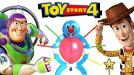 TOY STORY 4 CARNIVAL Balloon Pop Game  WOODY vs BUZZ LIGHTYEAR to WIN SURPRISE TOYS