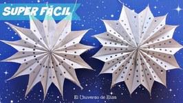 Manualidades Navideñas, Estrellas Gigantes de Papel, Decoración para Navidad