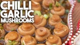 Hakka Chilli Garlic Mushrooms - Vegetarian Vegan