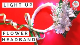 DIY Flower Headband Tutorial - How To Make A Flower Girl Headband For Winter Weddings