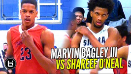 Marvin Bagley III vs Shareef O'Neal Sierra Canyon vs Crossroads League Championship Highlights