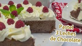 Pastel Tres Leches de Chocolate - Tarta 3 Leches Chocolate - Torta Tres leches paso a paso