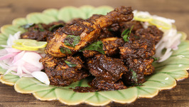 Chicken Ghee Roast / Roasted Chicken Chettinad Style / Masala Trails