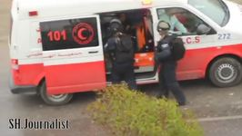 Israeli Soldiers Pull Two People Out of Red Crescent Ambulance North of Hebron