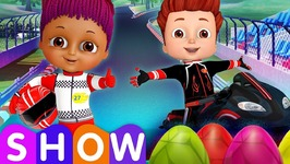 Learn Colors and Shapes with Race Bikes and Surprise Eggs Bike Toys SINGLE - ChuChu TV Funzone