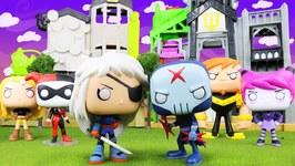 Teen Titans Go Funko Pop Red X Vs Rose Wilson With Teen Titans Go Super Villains