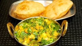 Aloo Chana Masala Bhaji Puri / Indian Meal Menu
