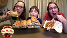Steak And Cheese Panini, Extreme Italian And Loaded Wedges Tim Hortons / Mukbang - Eating Show