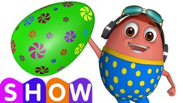 Learn GREEN Colour with Johny Johny Yes Papa - Surprise Eggs Colours Ball Pit Show - ChuChuTV 3D Fun