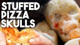 I Made These Stuffed Pizza Skulls For Dia De Los Muertos / Day Of The Dead Halloween