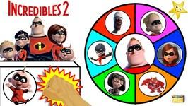 Disney Pixar INCREDIBLES 2 Spinning Wheel Game - Surprise Movie Toys