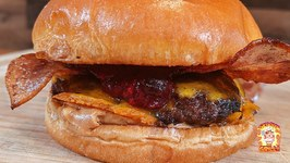 Spicy Peanut Butter And Jelly Smash Burger / Masterbuilt Gravity Grill