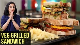 Veg Grilled Sandwich Recipe - How To Make Grilled Vegetable Sandwich - Sandwich Recipe By Tarika