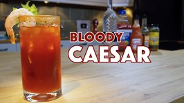 Classic Bloody Caesar Cocktail With Vodka And Clamato