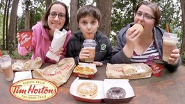 Tim Hortons Donuts And Chili / Gay Family Mukbang - Eating Show