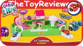 Little Live Pets Lil Ladybug Garden Playset Blind Bag Figures Unboxing Toy Review