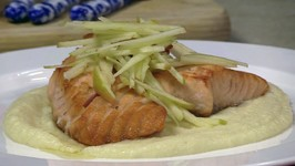 Chef Patrick Feury - Pan Seared Salmon Over Apple Parsnip Puree