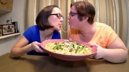 Fettuccine Alfredo /Gay Family Mukbang- Eating Show
