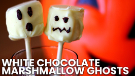 White Chocolate Marshmallow Ghosts