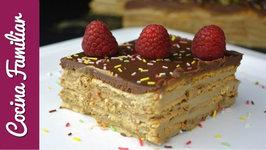 Tarta de la abuela con galletas, chocolate y crema paso a paso