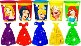 Disney Princess Play Doh Can Heads Molds with Frozen Elsa Ariel Fun Toys for Kids Modeling Clay