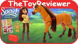 Spirit Riding Free Deluxe Walking Spirit and Lucky Doll Horse Unboxing Toy Review