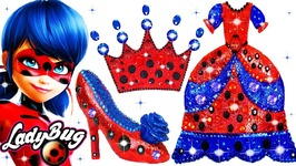 664a43bf8cf Miraculous Ladybug Play Doh Super Glitter Sparkle Shoes High Heel Dress  Crown Toys DIY How to Make