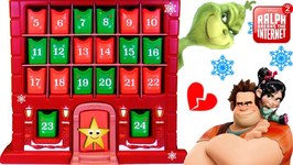 THE GRINCH Steals RALPH BREAKS THE INTERNET Advent Calendar Surprise Toys