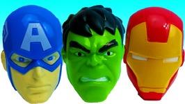 Learn Colors Superheros Surprise Toys Hulk Captain American Bottles Wet Surprise Toys