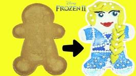 Disney Frozen 2 Elsa DIY Gingerbread Cookie Decorating