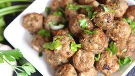 Easy Baked Turkey Meatballs  (Go With Anything Meatballs)