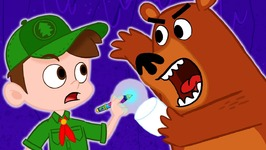 Scary Bear Steals Marshmallows Cool Scout Summer Camp - A Stupendous Drew Pendous Superhero Story