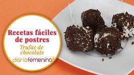Cómo hacer unas trufas de chocolate para chuparse los dedos - Recetas de postres fáciles-