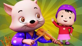 A Cat Came Fiddling  Popular Children's Nursery Rhymes  Meeko Dance Rhymes