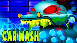 Car Wash - Haunted House Monster Truck Cartoons  - Truck Videos For Children by Kids Channel