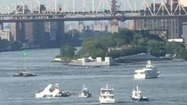Seven Rescued After Seaplane Makes Hard Landing in New York's East River