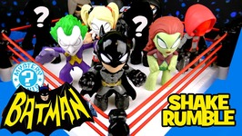 Batman Arkham Knight Shake Rumble Ft. Batman Toys Mystery Minis Robin And Joker